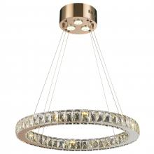 0fd9f1edbfe Worldwide Lighting Corp W83146RG24-CL - Galaxy 15 LED Light Rose Finish and  Clear Crystal
