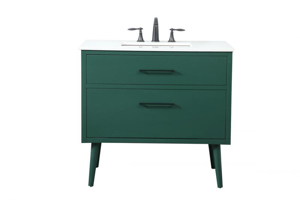 36 Inch Bathroom Vanity In Green Vf41036mgn Light Buys